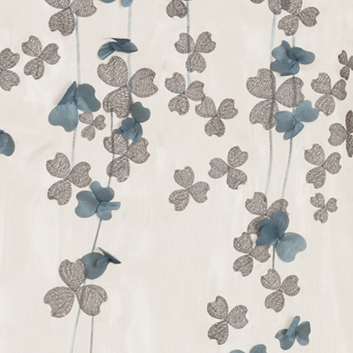 Amazon Lush Decor Flower Drop Shower Curtain 72 Inch By Ivory Blue Home Kitchen