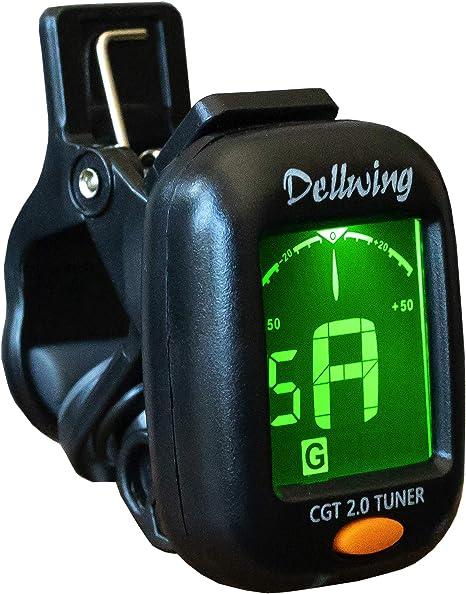 Dellwing - Afinador para guitarra, violín, ukelele y guitarra baja ...