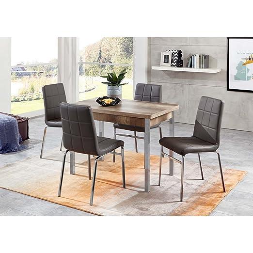 Möbel-Store24 Hermes/Linda - Juego de Mesa y sillas de Comedor (4 ...