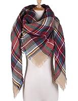 Plaid Blanket Scarf Women Big Square Long Scarves Warm Tartan Checked Shawl