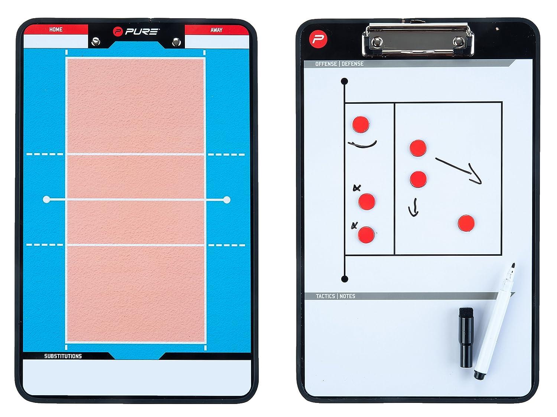 Pure2Improve P2I100690 Accessoire d'entrainement de Volleyball Mixte Adulte, Orange/Blanc