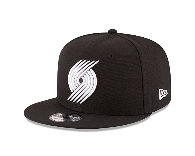 detailed look e0b29 d08fd Image Unavailable. Image not available for. Color  New Era NBA Portland  Trail Blazers Men s 9Fifty Snapback Cap, One Size, Black