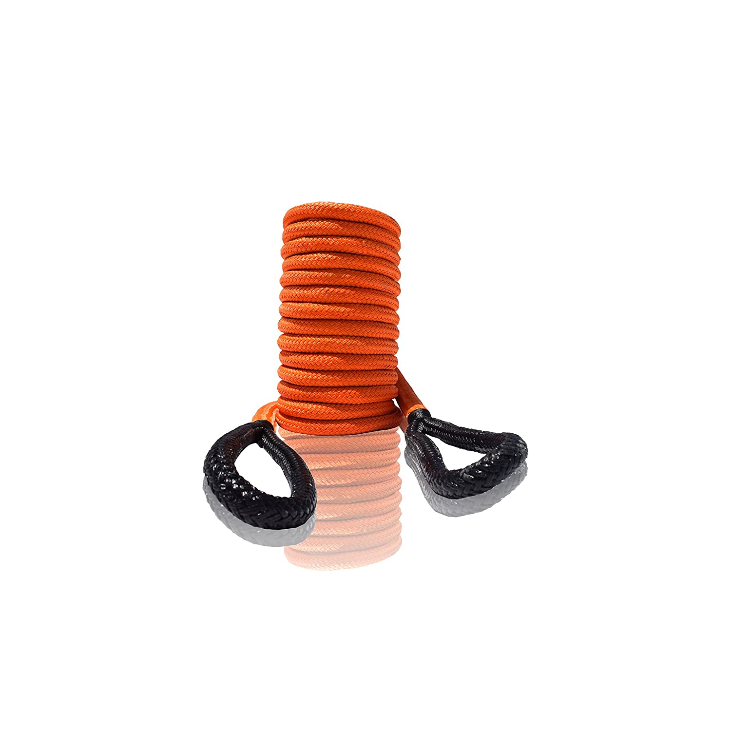 1//2x20, Orange QIQU Kinetic Recovery /& Tow Rope Heavy Duty Vehicle Tow Strap Rope for Truck ATV UTV SUV Snowmobile and 4x4 Off-Road Recovery 3 Size to Choose 1//2/'/'//3//4/'/'//1/'/' 3 Color