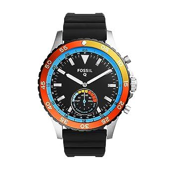 9422110cca80 Amazon.com  Fossil Hybrid Smartwatch - Q Crewmaster Black Silicone ...
