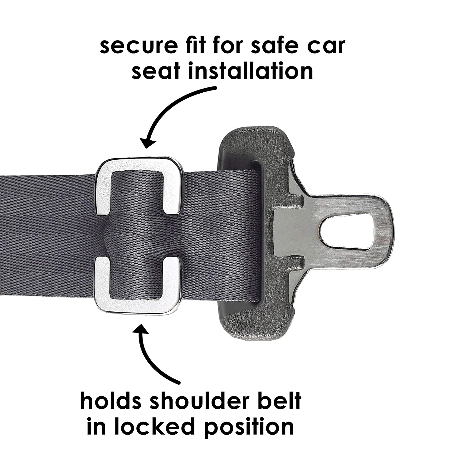 Morlike Silicone Seatbelt Secure Buckle Safety Cover Lock Light Blue, 2 Pack Buckle Guard Fits Almost Vehicles Keep Children Safe in Car Seat and Prevent Kids from Accidentally Unbuckling