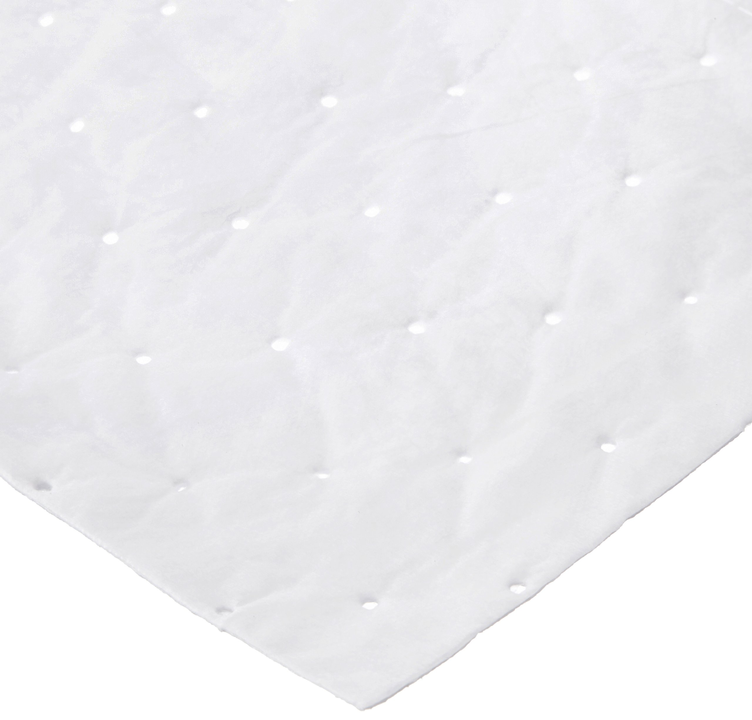 SpillTech WPB100S Polypropylene Oil-Only SonicBonded Singleweight Mat Pad, 19'' Length x 15'' Width, White (Pack of 100)