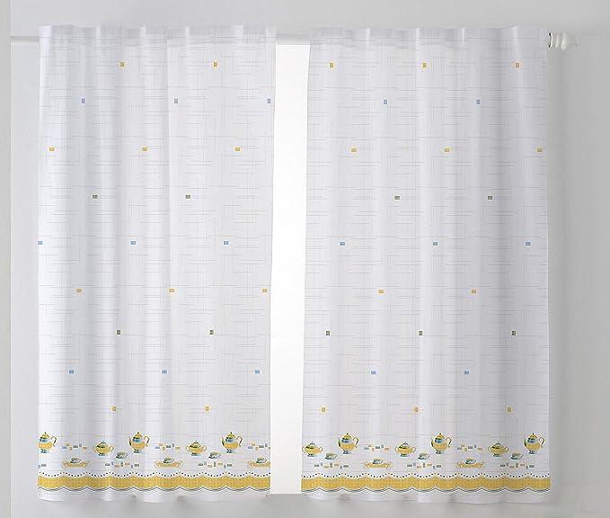 Cardenal Textil Tazas Cortina Cocina Visillo, Naranja, Pack 2 100 x 140 cm: Amazon.es: Hogar