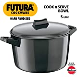 Hawkins Futura Hard Anodised Cook-n-Serve Bowl, 5 Litres, Black