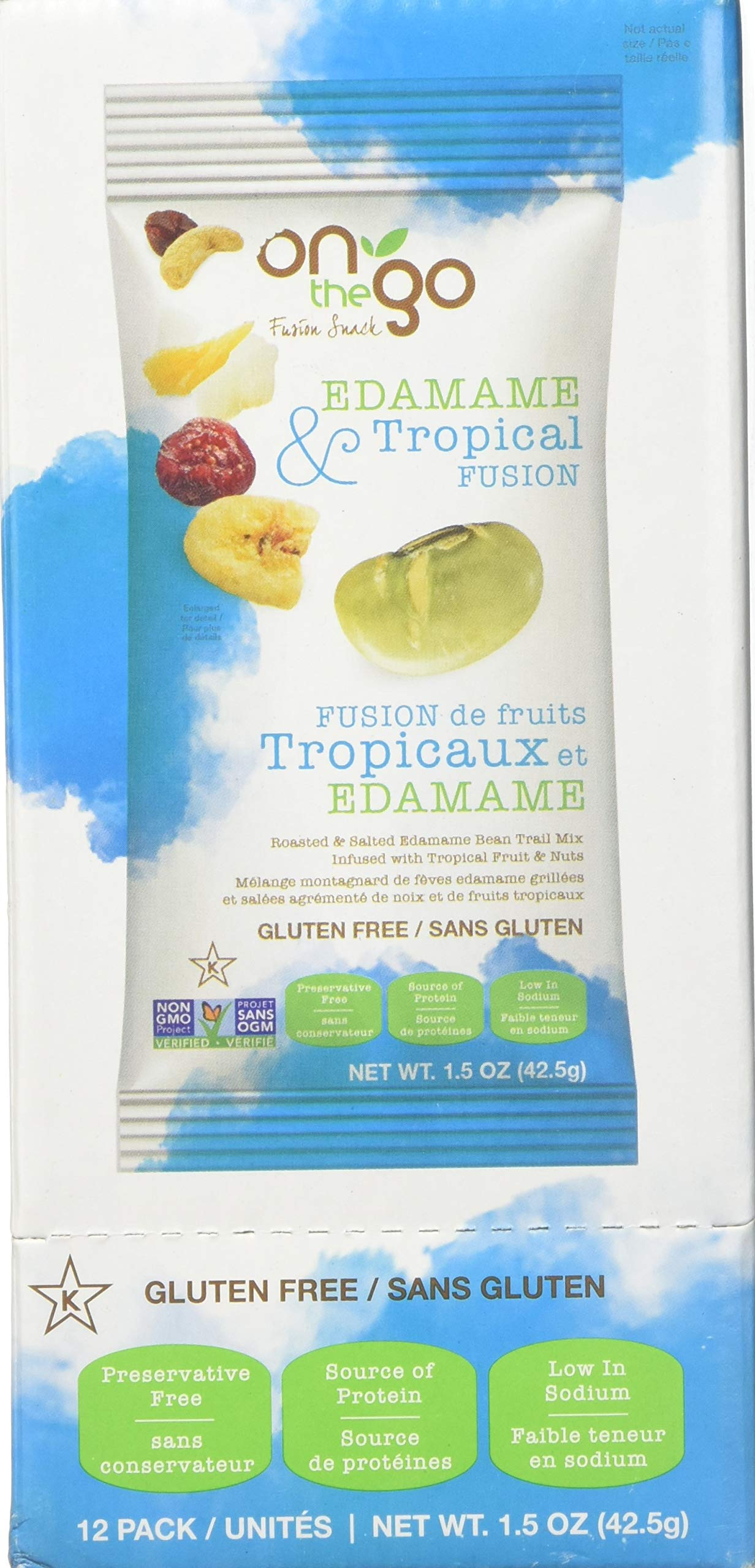 On The Go Roasted & Salted Edamame Bean Trail Mix blended with Tropical Fruits and Nuts by On The Go Fusion Snack (Image #1)