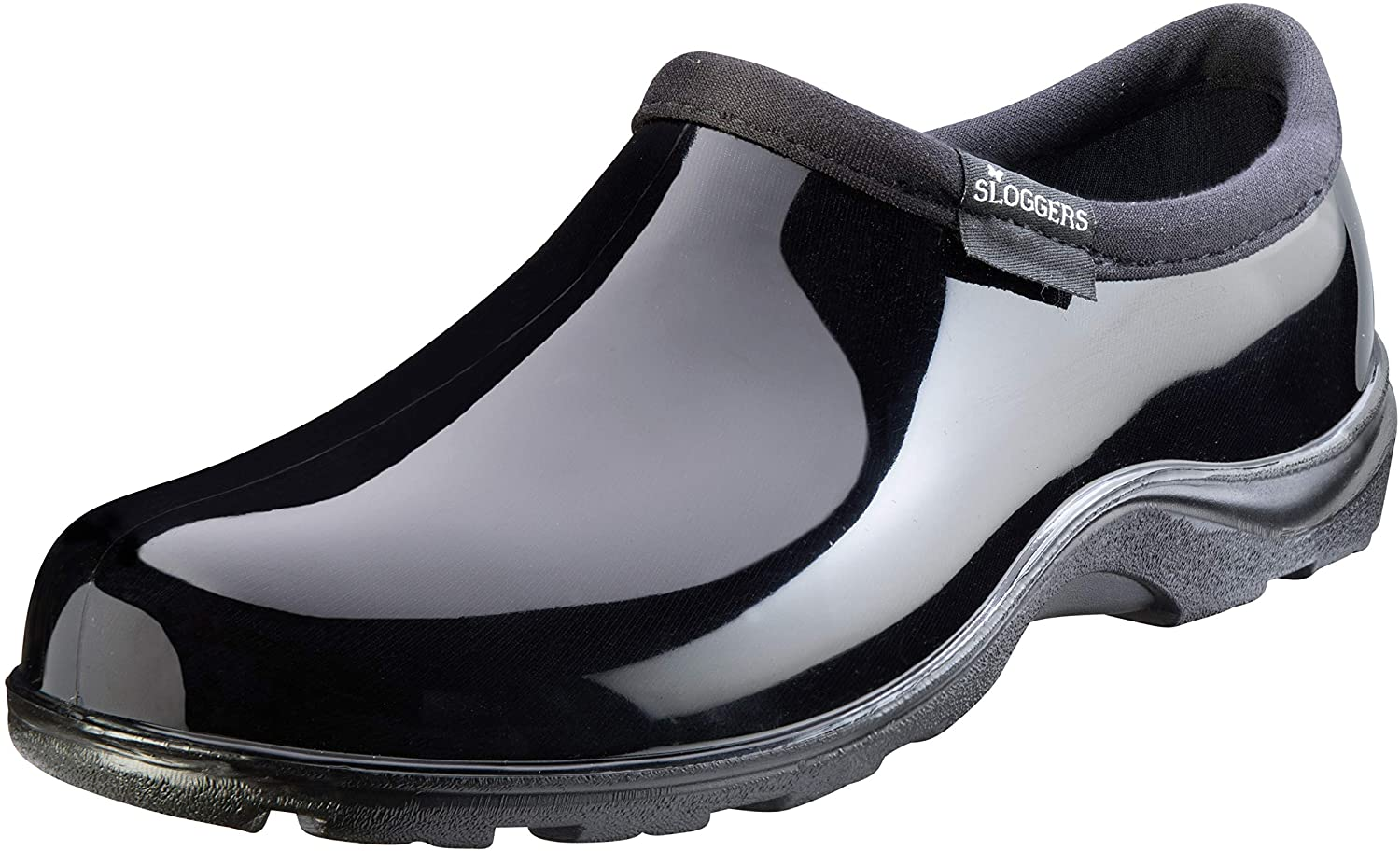 Sloggers Women's WaterproofRain and Garden Shoe with Comfort Insole, Classic Black, Size 10, Style 5100BK10