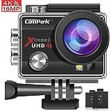 Campark ACT74 Cámara Deportiva 4k WiFi 16MP Impermeable Camara Acuatica Agua de 30M Videocámara con Accesorios Multiples