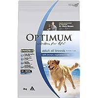 OPTIMUM Chicken Vegetables & Rice Dry Dog Food 3kg Bag, 4 Pack