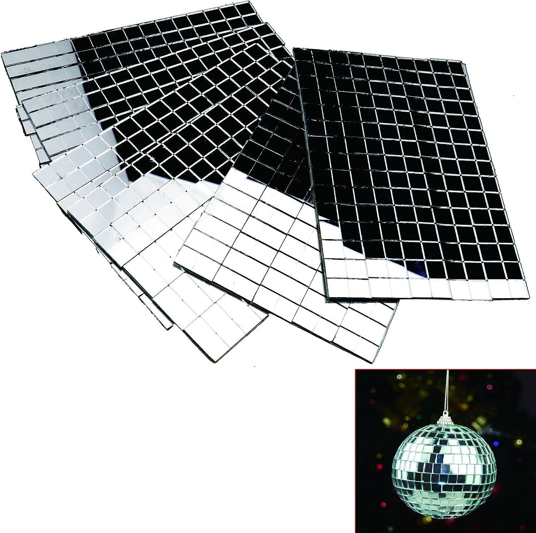 Mini carr/és et carreaux de mosa/ïque de miroirs ronds autocollants pour verre v/éritable artisanat 5//10/mm 10x10mm