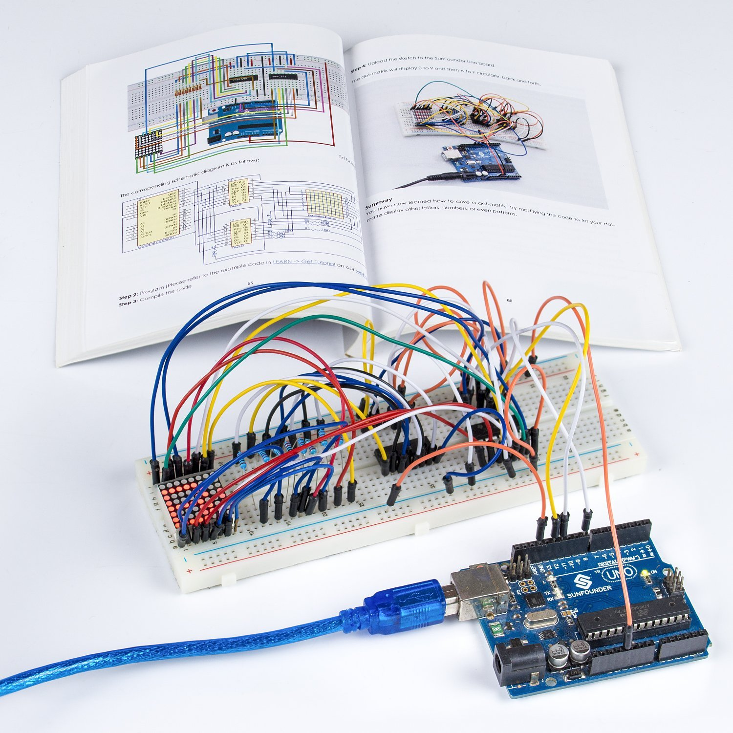Sunfounder Rfid Starter Kit For Arduino Uno R3 Mega Nano Circuit Learn About Boards Board Jumper Wires Sensors Breadboard