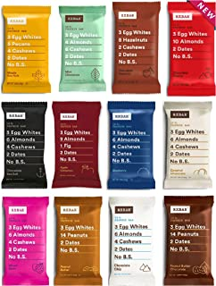 product image for RXBAR Real Food Protein Bar, Variety Pack, Gluten-free, 1.83 oz, (Variety, 12 Count)