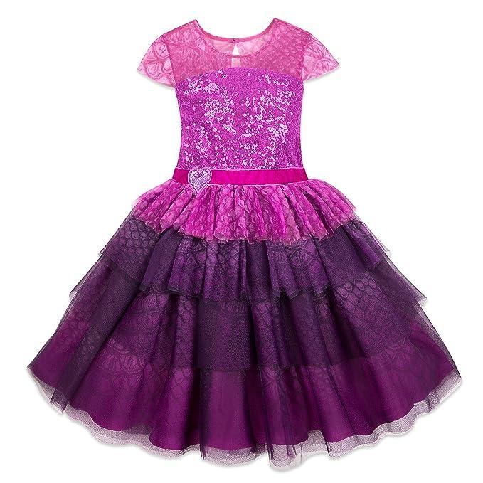 Amazon.com: Disney Mal vestido de fiesta para niñas ...