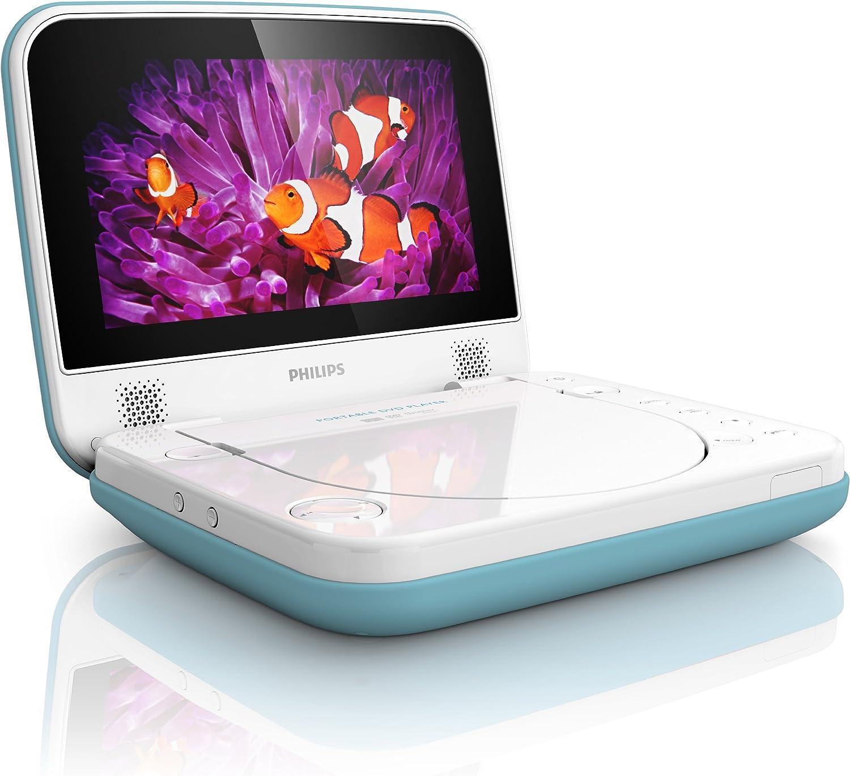 Philips Pd7006b 12 Tragbarer Dvd Player Spritzwassergeschützt 17 8 Cm Lcd Blau Audio Hifi