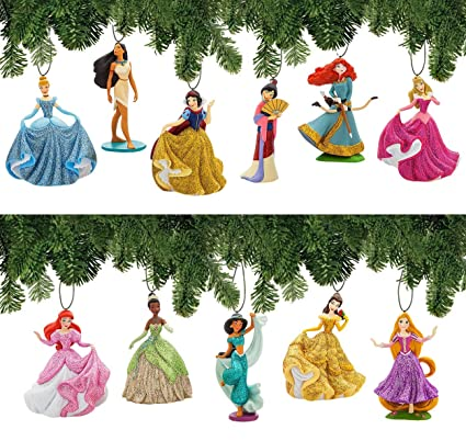 best loved 4c3ca 2130a Disney Princess Ornament Set Deluxe 11 Piece Christmas Tree Holiday  Ornaments