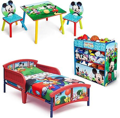Amazon Com Mickey Mouse Disney 3 Piece Toddler Bedroom Bundle