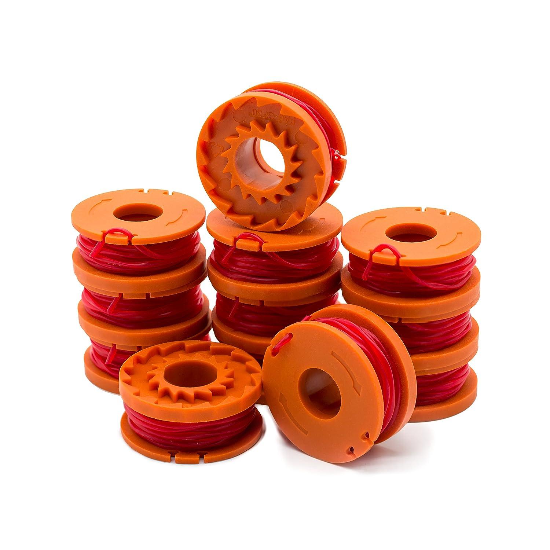 Amazon.com: Lote de 12 bobinas de repuesto para cortacésped ...