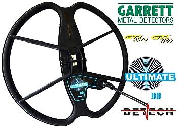DETECH - Bobina de Búsqueda DD Ultimate DE 13 Pulgadas para Garrett GTI 1500 y Garrett GTI 2500 de Metal Detector Bobina Cubierta Está incluida: Amazon.es: ...