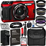 Olympus Tough TG-6 Digital Camera with Deluxe Accessory Bundle – Includes: