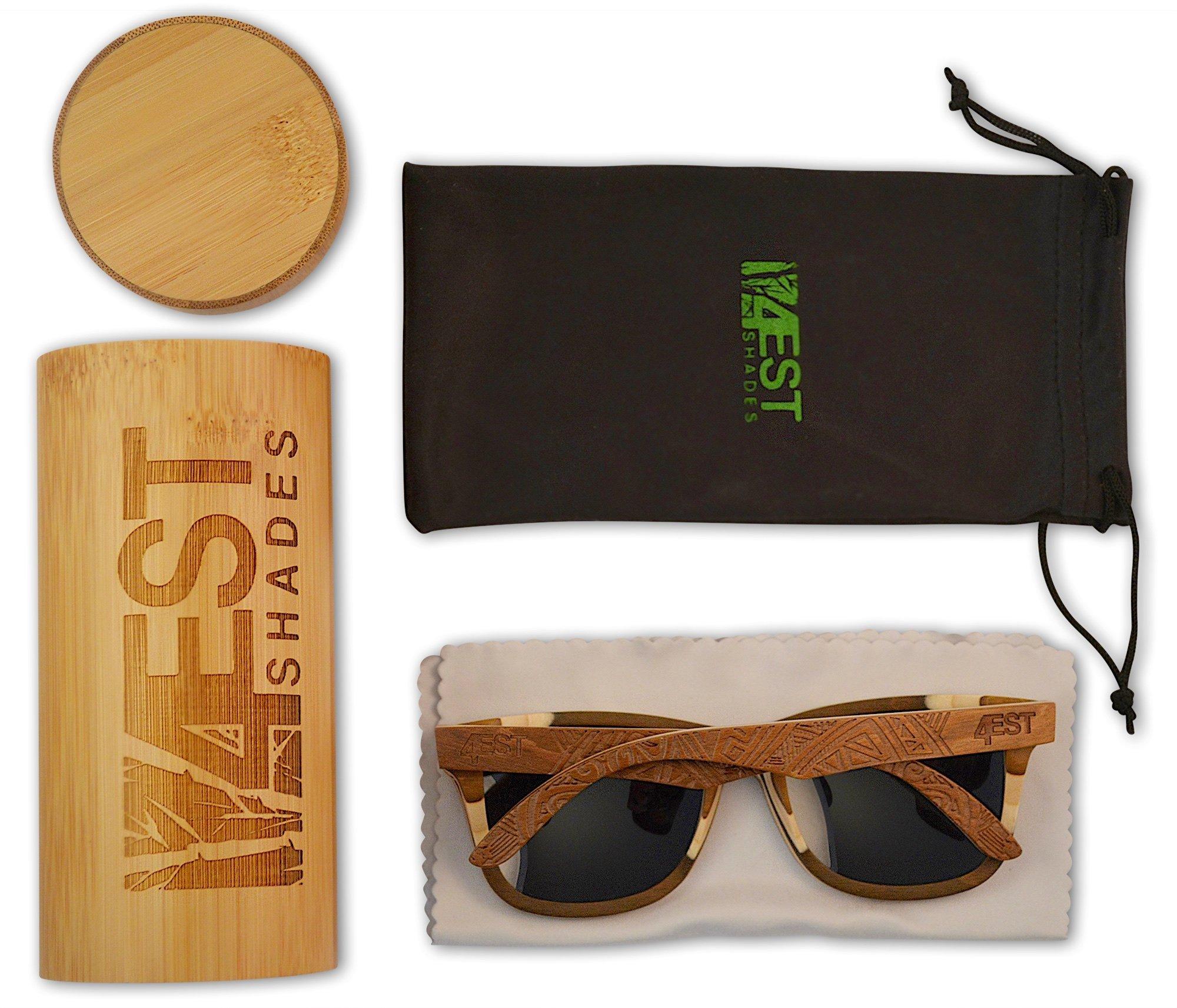 bfb4db3af5 4est Shades Polarized Lenses Wood Sunglass