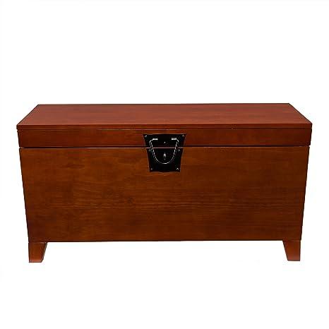 Amazon.com: SEI - mesa para cocktail de tronco, Madera ...