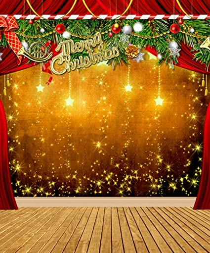 Amazon.com  Merry Christmas Stage Photo Backdrop Xmas Fir