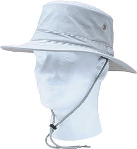 Sloggers Men's Classic Cotton Hat, Grey, UPF 50+Maximum Sun Protection, Style 4471GY