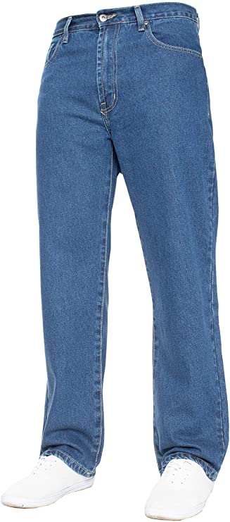TALLA 32W / 30L. Pantalones vaqueros para hombre de pierna recta, resistentes, de trabajo, pantalones vaqueros, todos los tamaños grandes en 4 colores