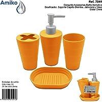 Conjunto Accesorios Baño Sensitive Zinna (Dosificador, Soporte Cepillo
