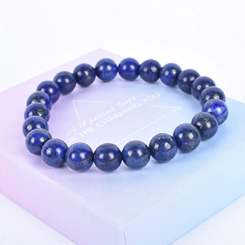 Stretch Brac 10mm Natural Blue Tiger Eye and Lapis Lazuli AAA* Highest Quality