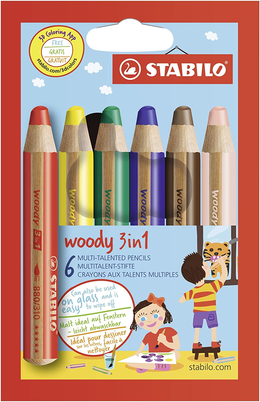 /Étui carton de 18 crayons de couleurs Stabilo 1 taille crayon Woody