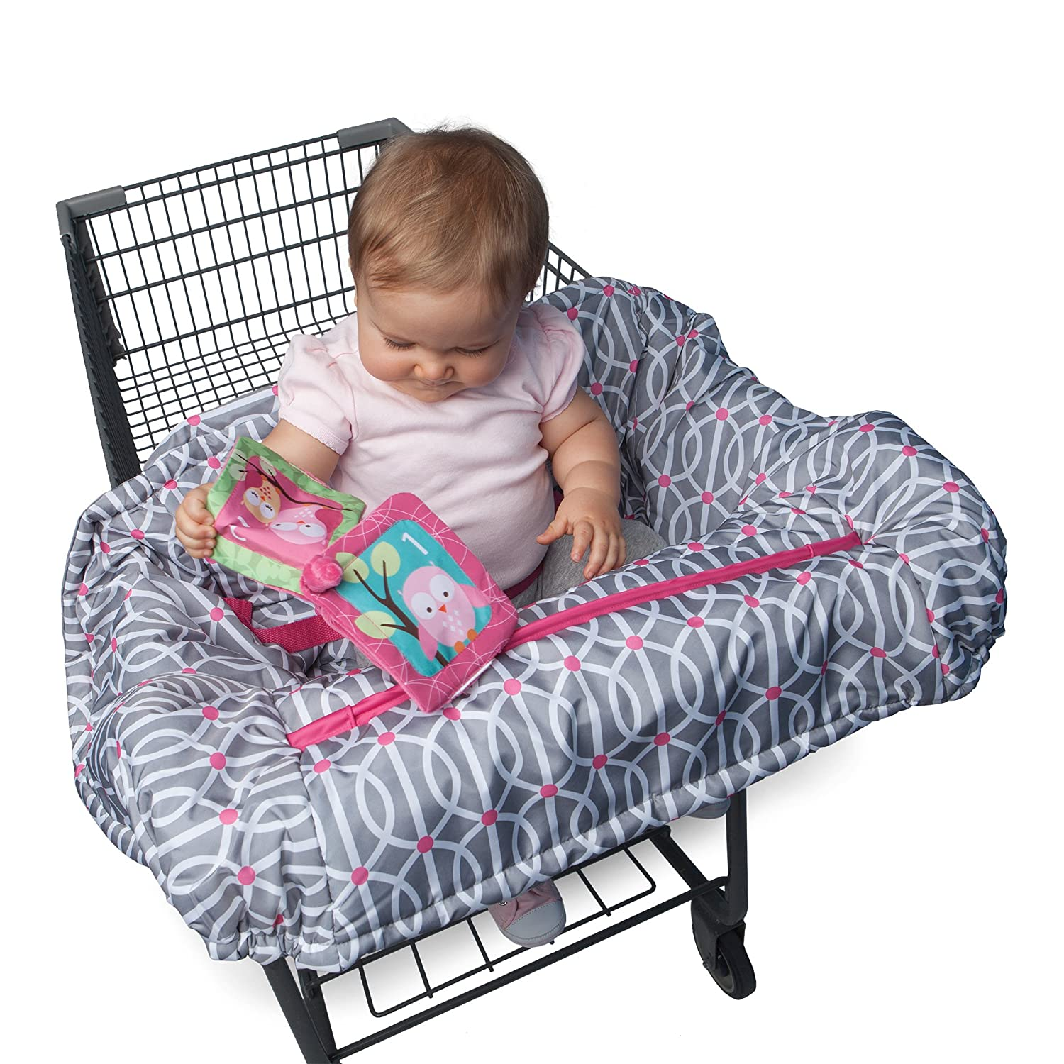 Boppy Shopping Cart and High Chair Cover, Park Gate Pink 7300475K 3PK