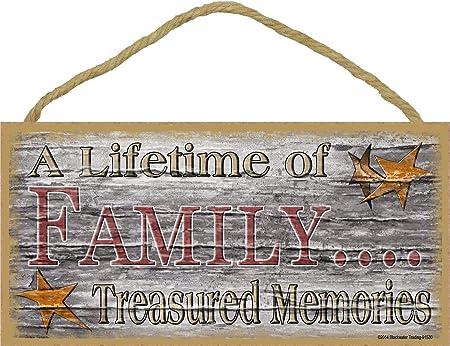 Family Treasured Memories Cartel de Pared Madera Placa ...