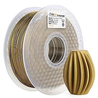 AMOLEN PLA Filamento Impresora 3D 1.75mm Bronce esmerilado 1KG,+/- 0.03mm Materiales de impresión 3D de filamento, incluye Filamento de Mármol de ...