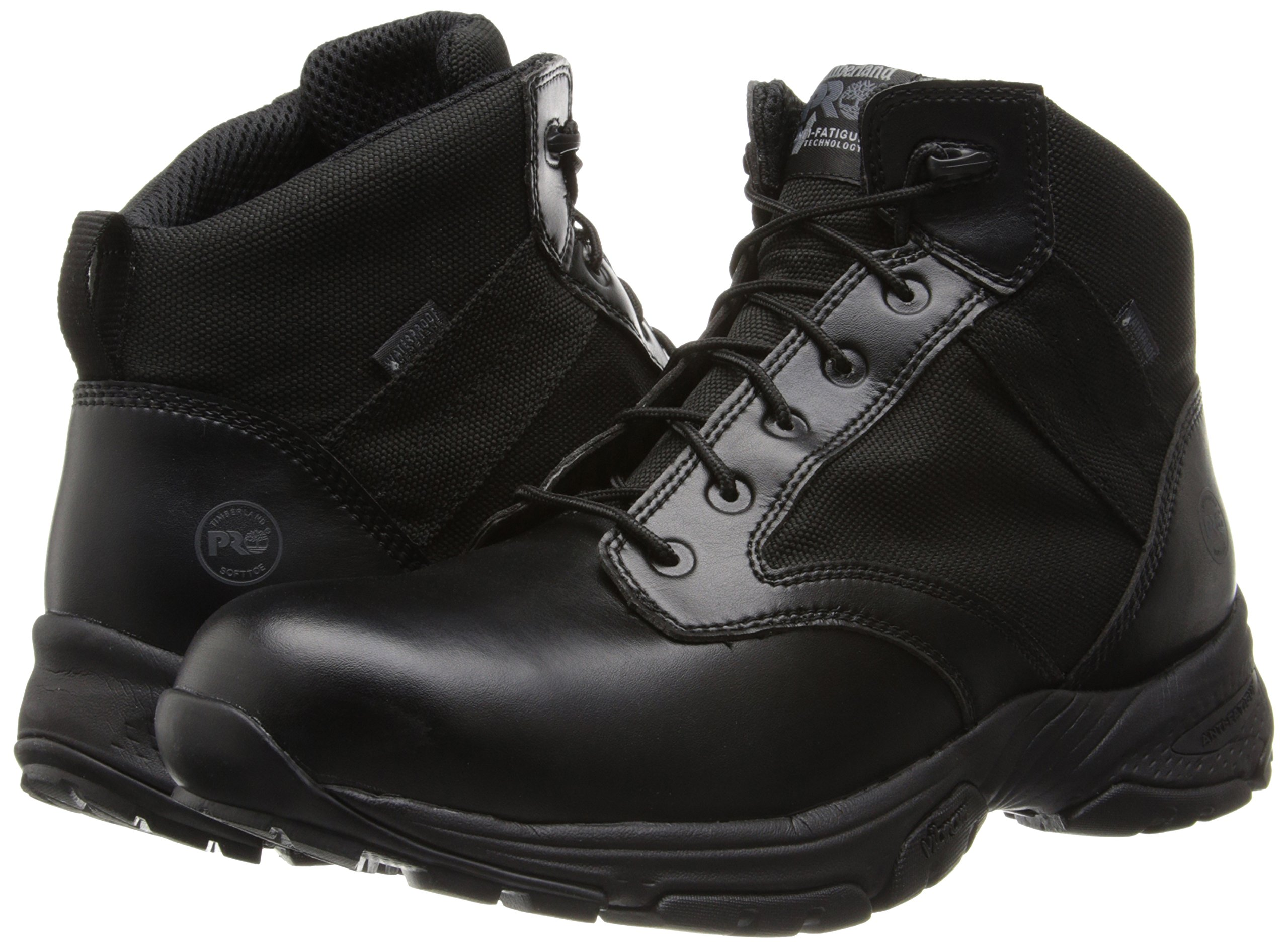 Timberland PRO Men's 5 Inch Valor Soft Toe Waterproof Duty Boot,Black Smooth With Textile,11.5 M US by Timberland PRO (Image #6)