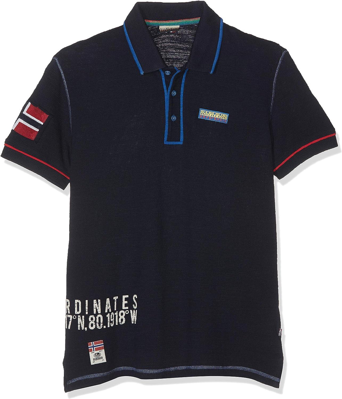Napapijri Elize Blu Marine Polo Homme