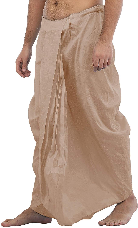 Maenner-Dhoti-Dupion-Silk-Plain-handgefertigt-fuer-Pooja-Casual-Hochzeit-Wear Indexbild 52