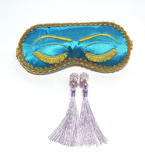 bead7e43d9f29 Handmade Breakfast at Tiffany's Eyelashes Sleep Mask Tassel Ear Plugs Set  Bachelorette Party Mask.