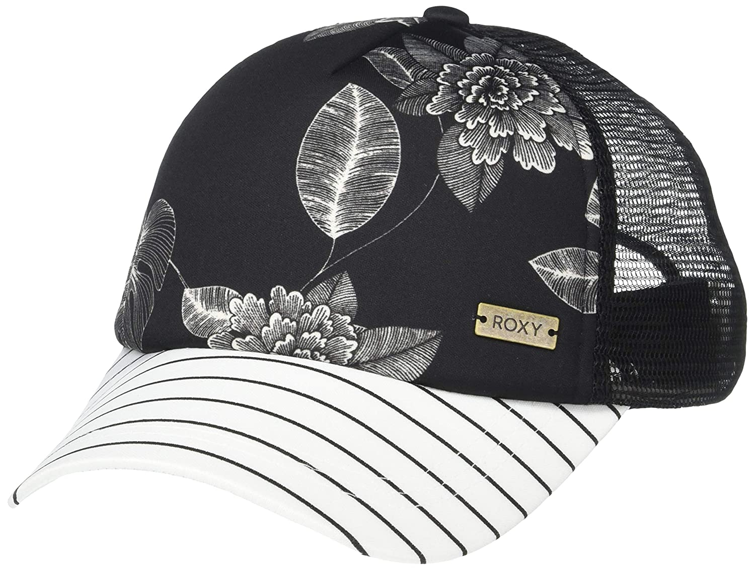 4b55b3cc2bf56b Amazon.com: Roxy Junior's Water Come Down Trucket Hat, Anthracite Flower of  Love, 1SZ: Clothing