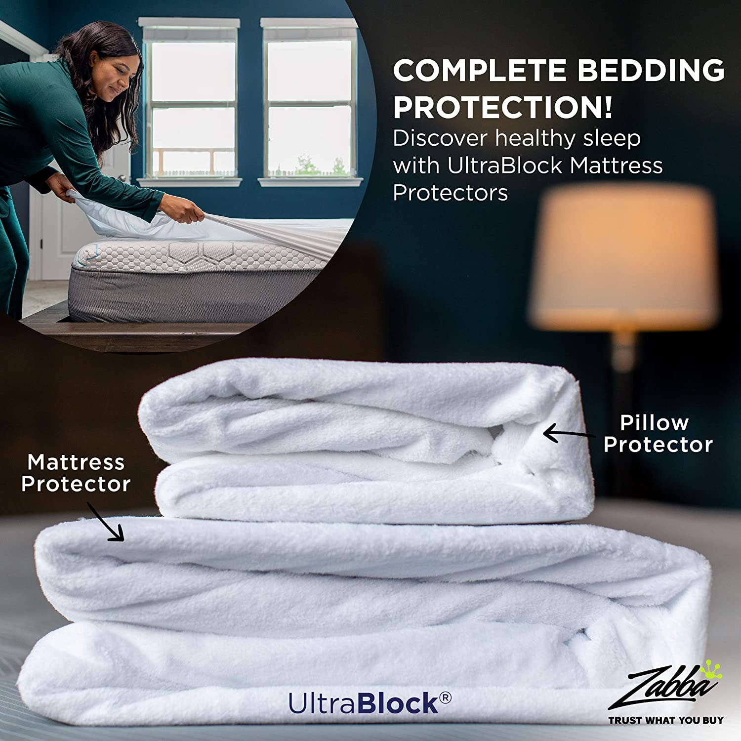 Waterproof Mattress Protector UltraBlock Twin Extra Long Twin XL Premium Soft Cotton Terry Cover