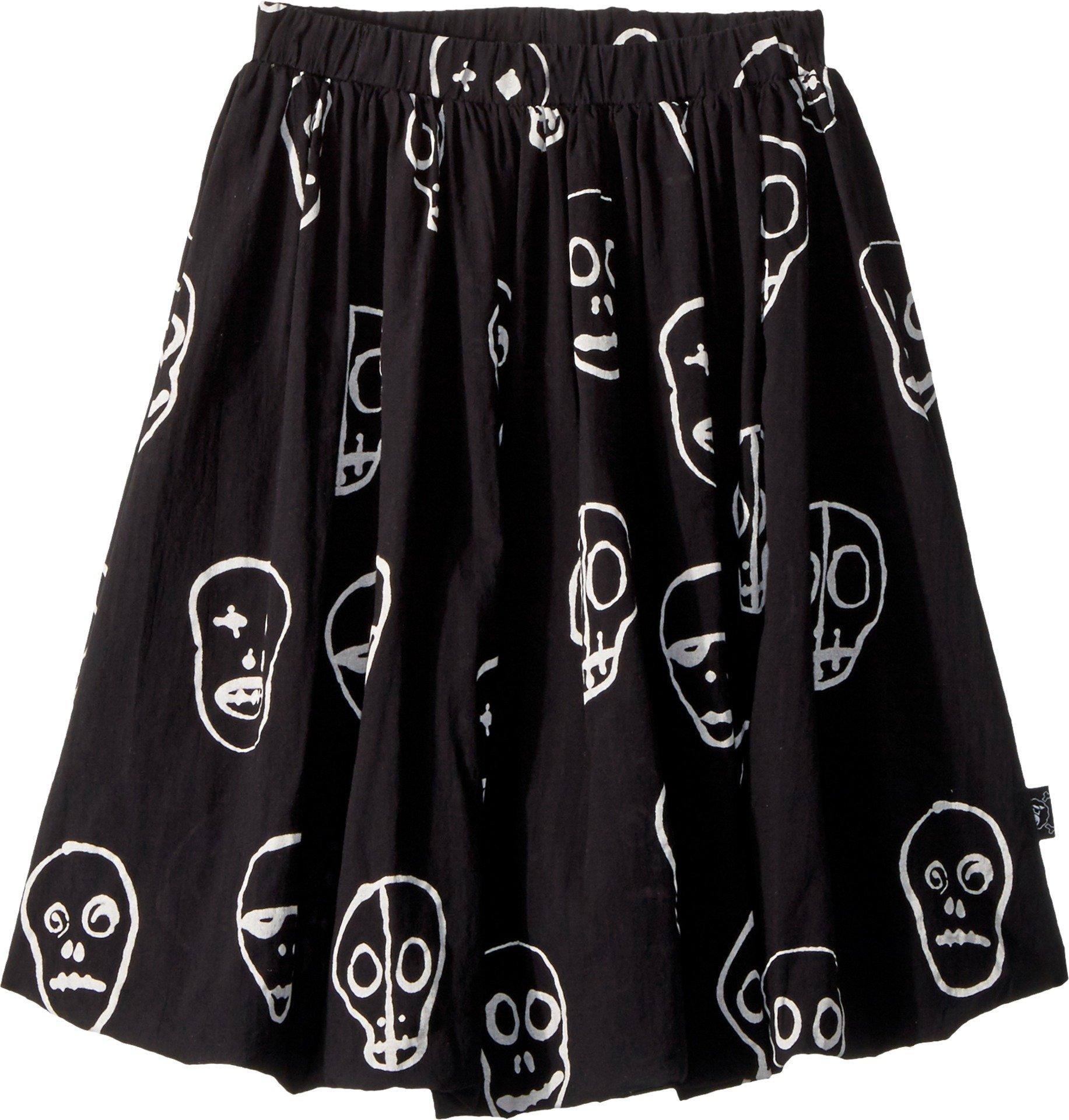 NUNUNU Girl's Skull Mask Balloon Skirt (Little Kids/Big Kids) Black 8-9 Years