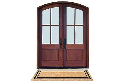 DeCoir 24u0026quot; X 60u0026quot; U0027Classic Borderu0027 Large Coir Double Door Mat