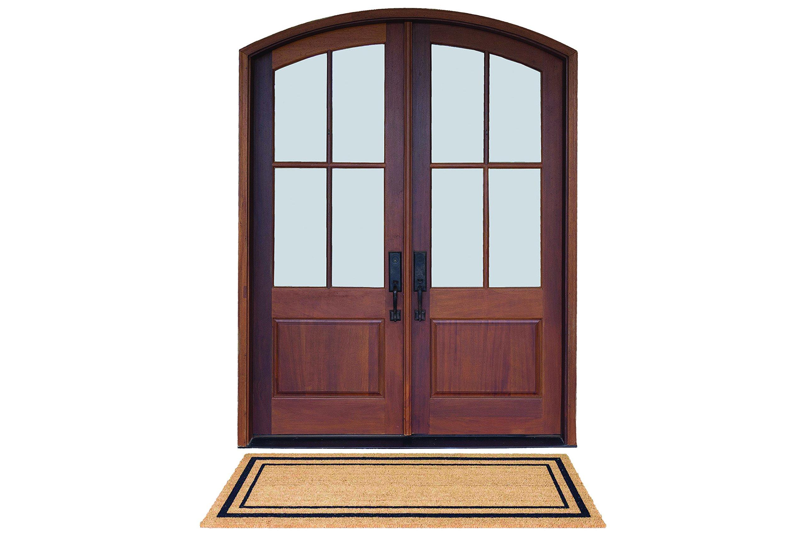 DeCoir 24'' x 60'' 'Classic Border' Large Coir Double Door Mat