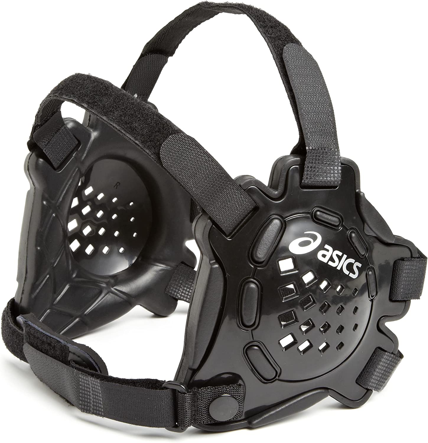 ASICS Conquest Earguard, Black/Black, One Size : Wrestling Ear Guards : Clothing