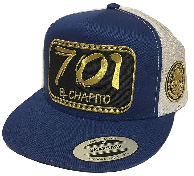 c6423f7a0b4 El chapito 701 2   Aguila a lado All Gold 2 Logos Hat Royal White ...
