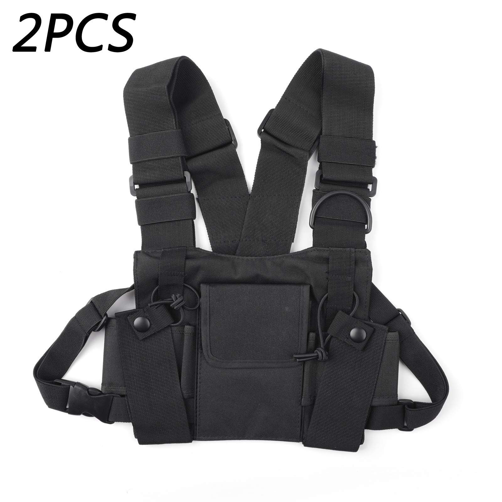 Areyourshop 2PCS Multi-Function Interphone Chest Pocket Radio Equipment Pack Rescue Backpack