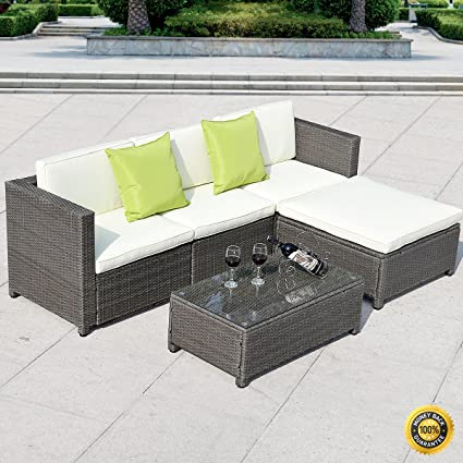 Amazon.com : COLIBROX--5PC Patio Rattan Wicker Sofa Set ...